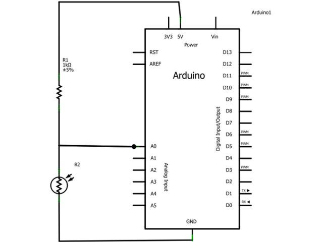 arduino light sensor circuit tutorial rh browse tutorials com Motion Sensor Switch Wiring Diagram K4021 Photocell Wiring-Diagram