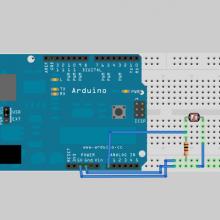 arduino light sensor circuit breadboard