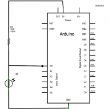 arduino light sensor circuit schema