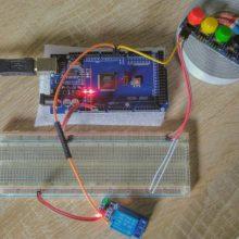 arduino relay button