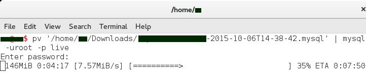 mysql import show progress